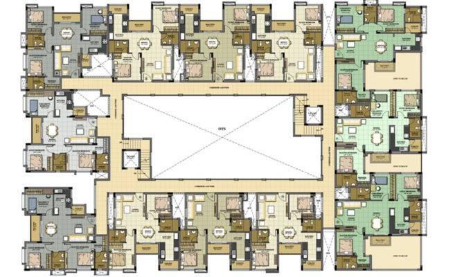 Apartment Block Floor Plans