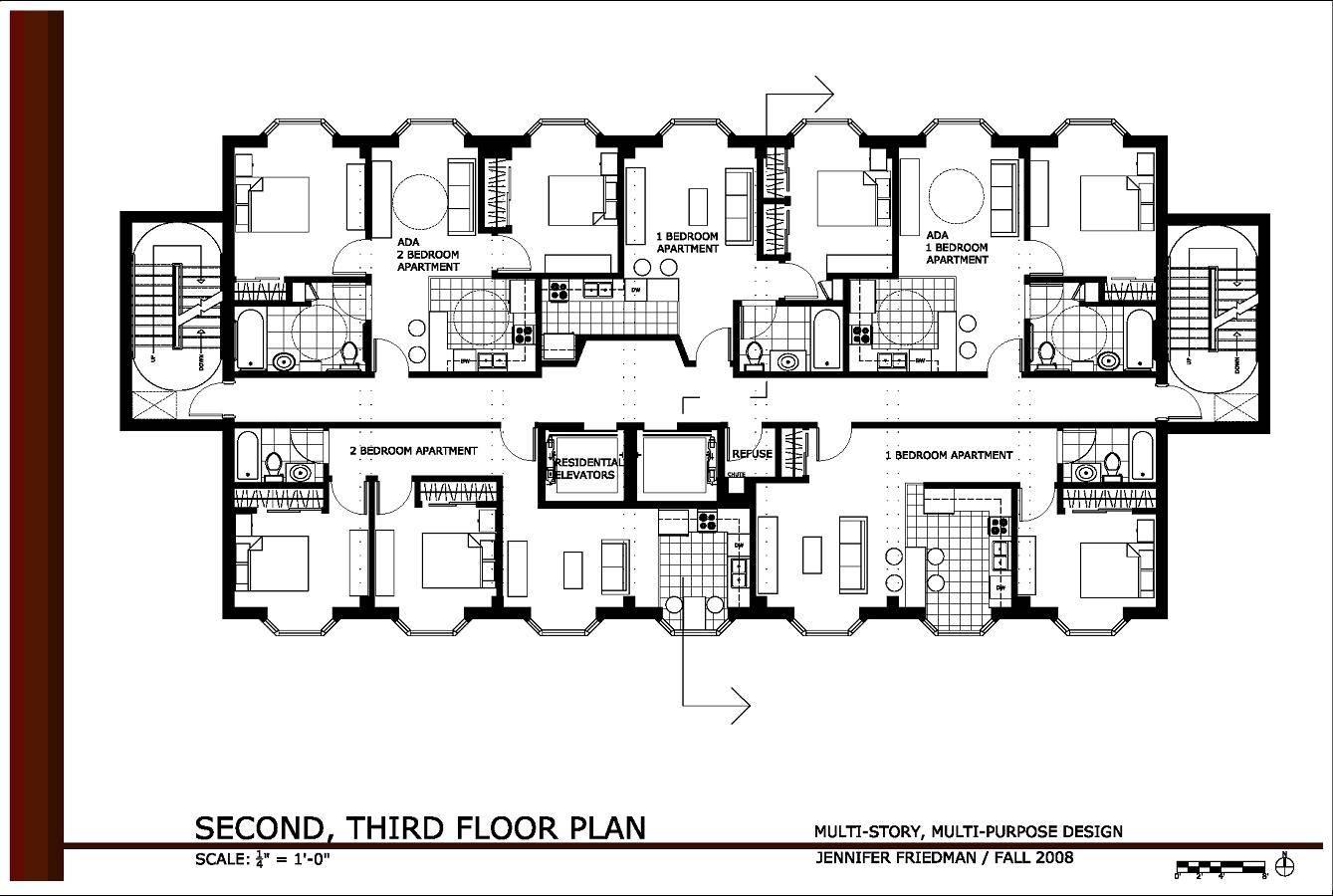 Apartment Complex Floor Plans Brucall House Plans 99905
