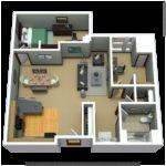 Apartment Floor Plans Bedroom Den
