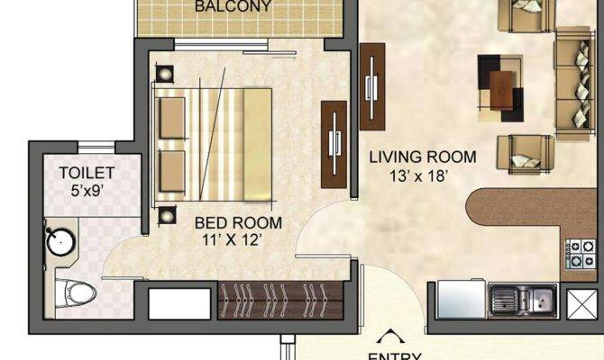 Apartment Furniture Layout Studio Set Ideas