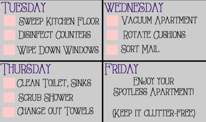 Apartment Housekeeping Plan First
