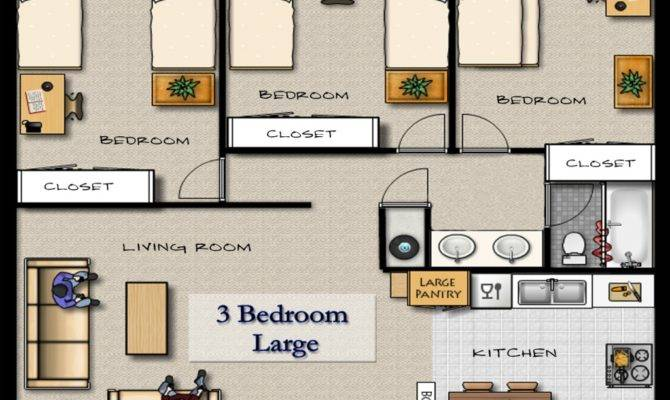 Apartment Styles Floor Plans Apartments Bedroom