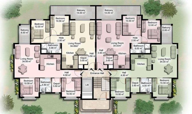 Apartment Unit Plans Modern Building