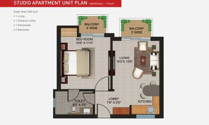 Apartments Studio Apartment Layouts Unit Plan Bedroom Toilet