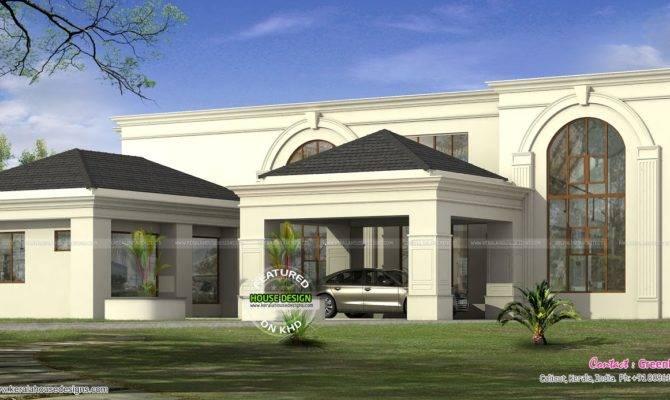 Arabian Style Home Plan Kerala Design Floor Plans