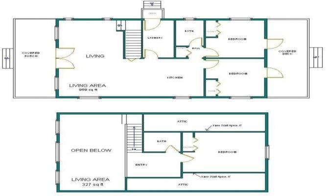 Arched Cabin Floor Plans Blueprints