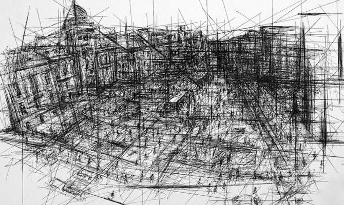 Architect Drawing Collage Hildachak