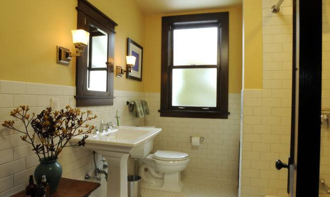 Architect Fred Fargotstein Craftsman Bathroom Renovation