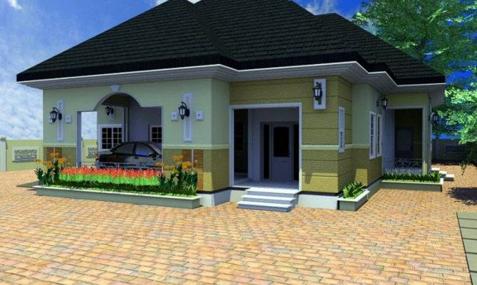Architectural Design Bedroom Bungalow Home Combo