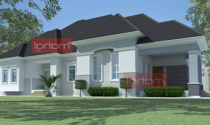 Architectural Designs Bedroom Bungalow Home Combo