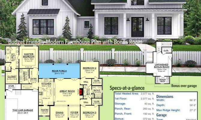 Architectural Designs Modern Farmhouse Plan Gives