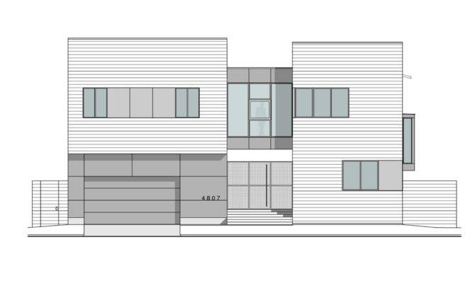 Architectural Drawings Modern Houses Zagun House