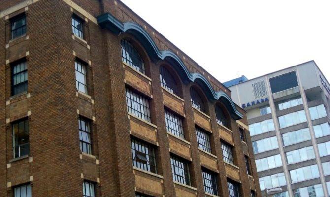 Architectural Elements Art Deco Commercial Brick Building
