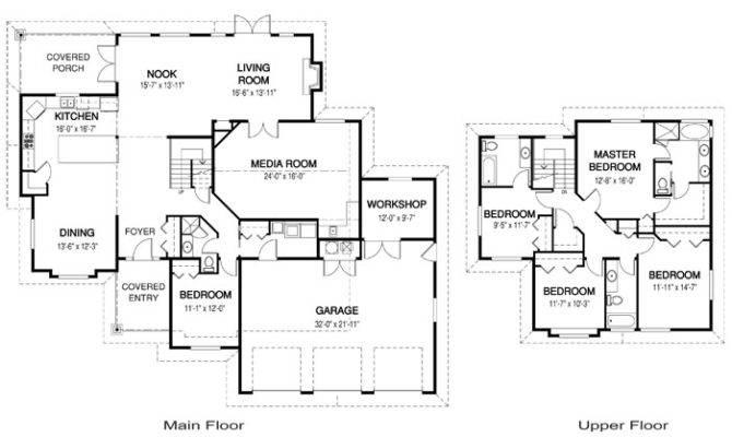 Architectural Floor Plans Regarding Residence