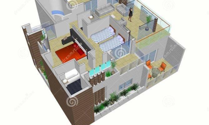 Architectural Plan House Illustration