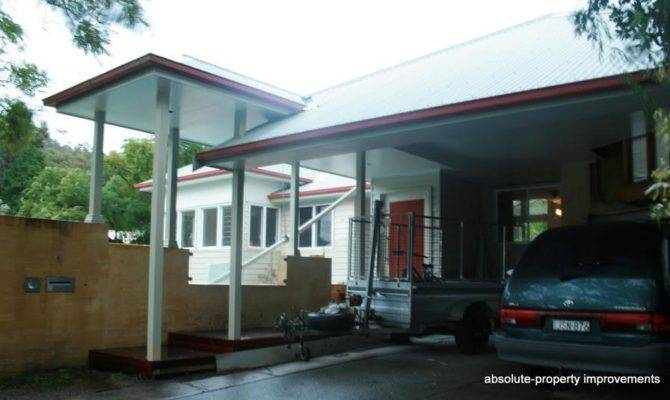 Architecturally Designed Extension Front House Carport Bagged
