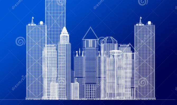 Architecture Blueprint Corporate Buildings