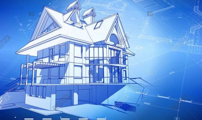 Architecture Design Blueprint Vector Bigstock