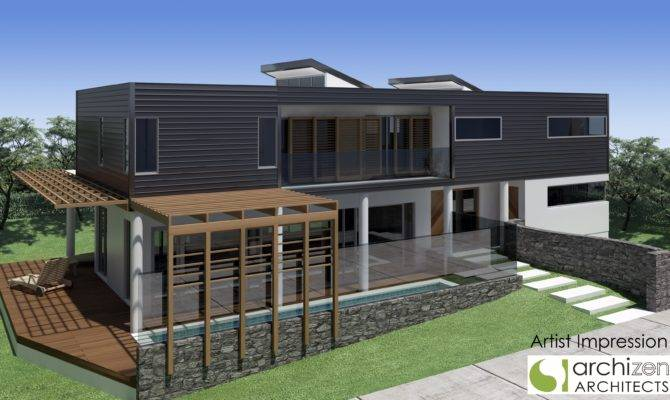 Archizen Architects New Executive Bayside Home Design Connells Point