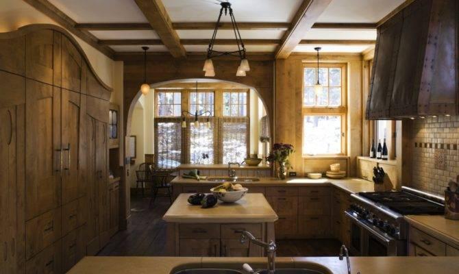 Art Nouveau Mountain Home Kitchen John Malick Associates