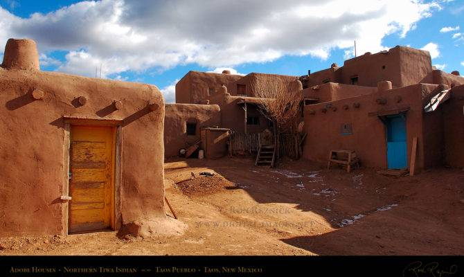 Artistic Adobe Houses Building Plans