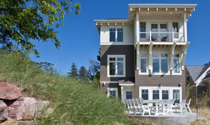 Artistic Lakefront Living Architecture Plans