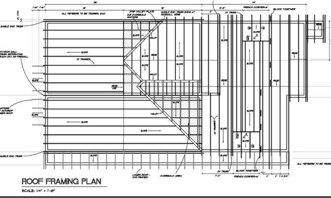 Artistic Residential Framing Plans Architecture