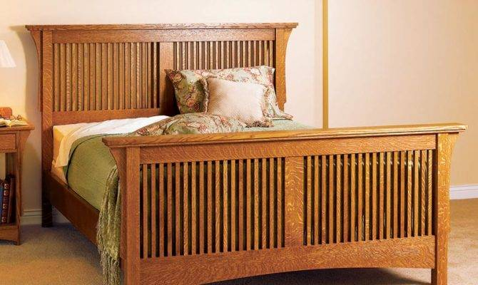 Arts Crafts Bed Mission Style Woodworking Plan