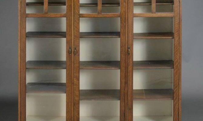 Arts Crafts Style Oak Bookcase Lot