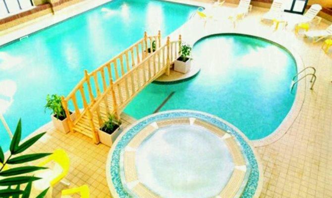 Astonishing Indoor Pool House Designs Ceiling Light
