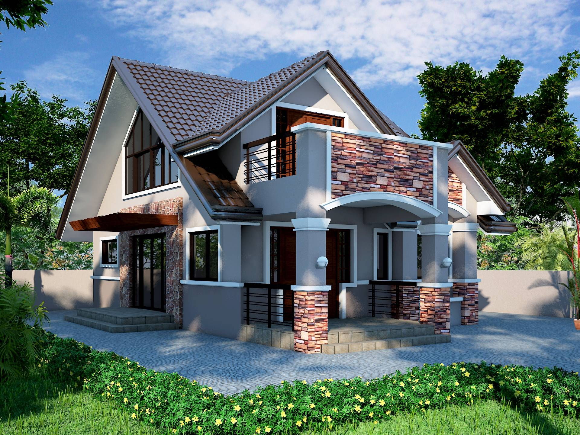 Attic Roof Design Philippines Pinterest House Plans 54290