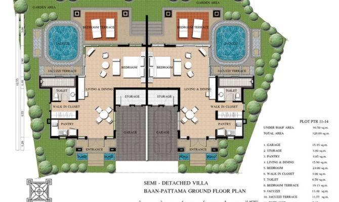 Attractive Semi Detached House Plans Garage Bedroom