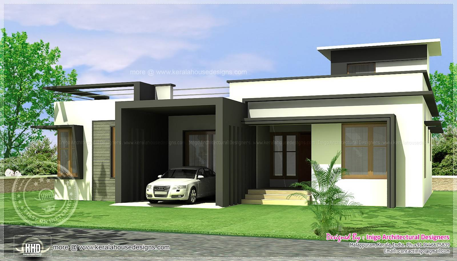 ^ Single Storey Flat Home Design Simple House Designs India 8 ...