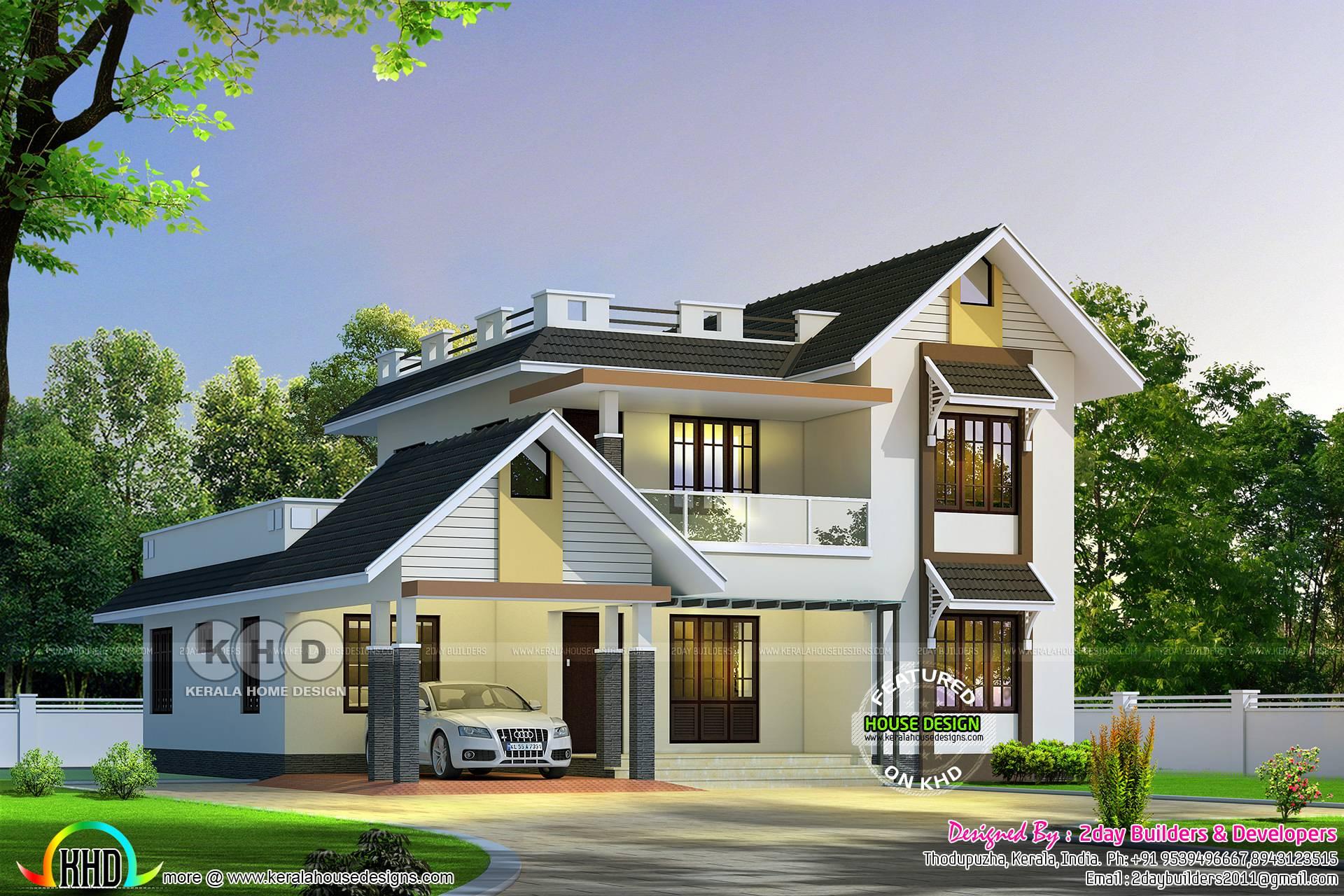 August Kerala Home Design Floor Plans House Plans 112366