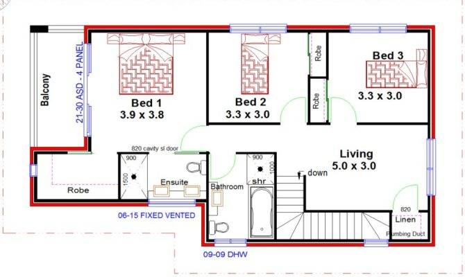 Australian Duplex Design Townhouse Floor Plan Dual Living