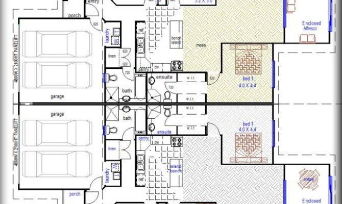 Australian Plan Bedroom Duplex Design