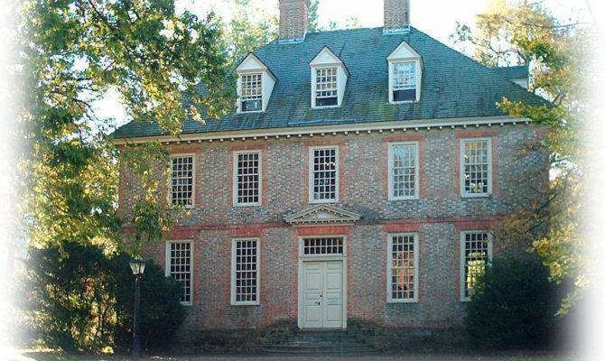 Authentic Williamsburg Colonial House Architectural Home Plans