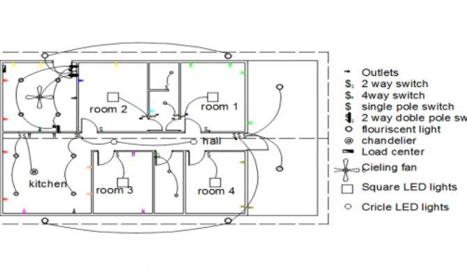 Autocad Electrical House Plan