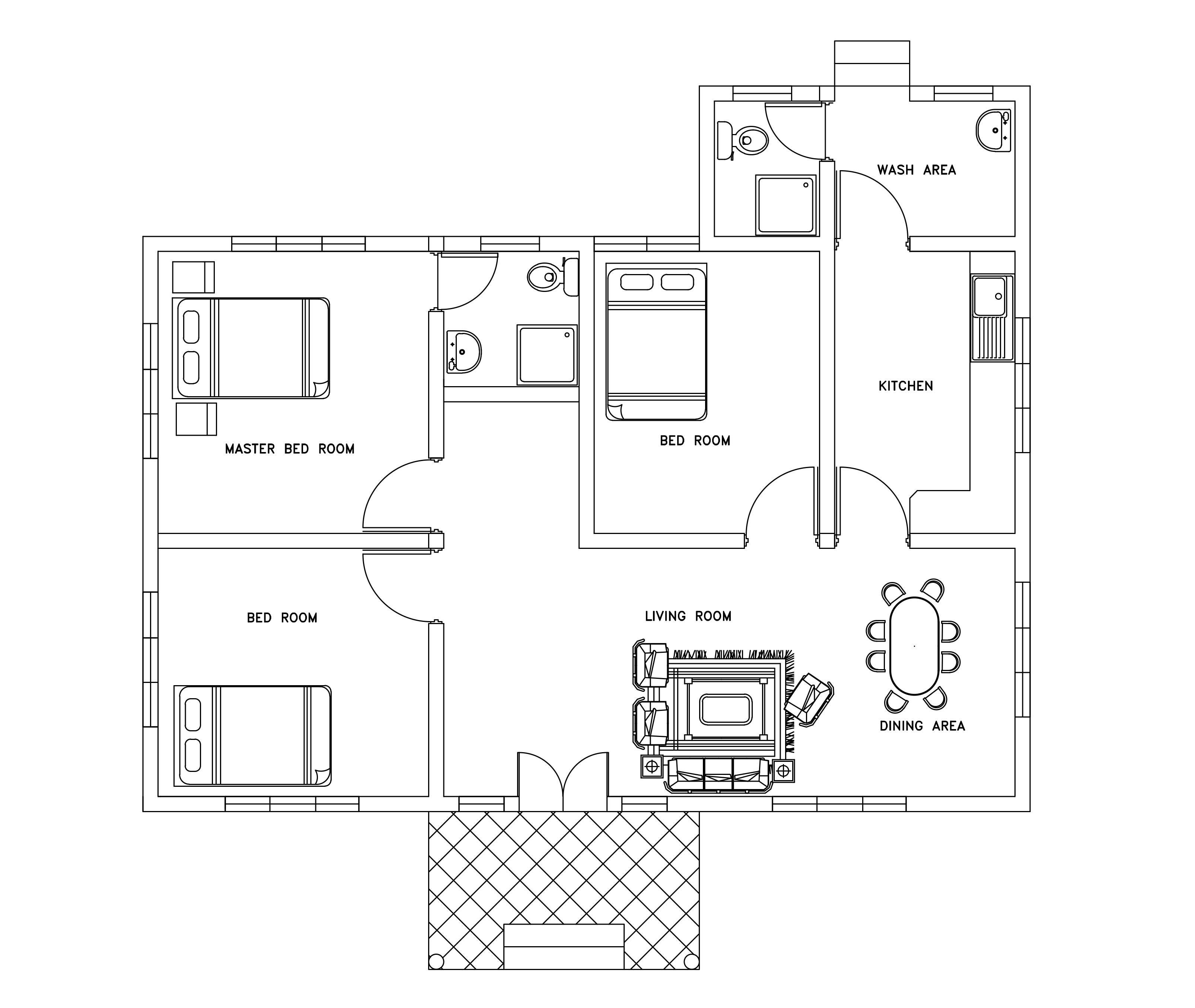 Autocad House Plans Dwg Escortsea House Plans 176286