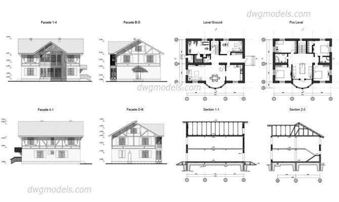 Autocad House Plans Dwg
