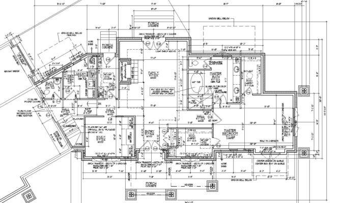 Autocad House Plans Residential Building Drawings Cad