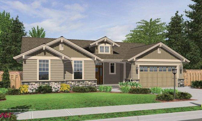 Avondale Craftsman Style Ranch House Plan Stone Accents