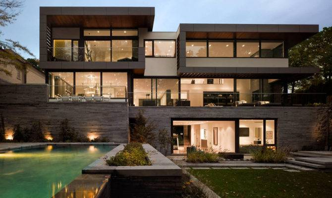 Awarded Contemporary Home Beautiful Garden Toronto Canada