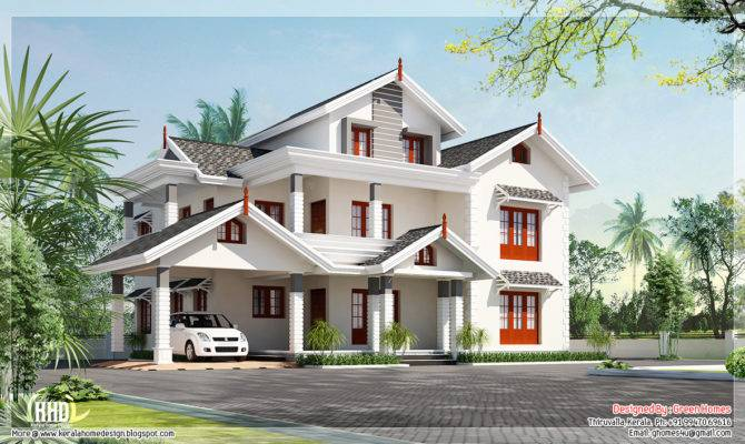 Awesome Bedroom Villa Design Kerala Home Floor Plans