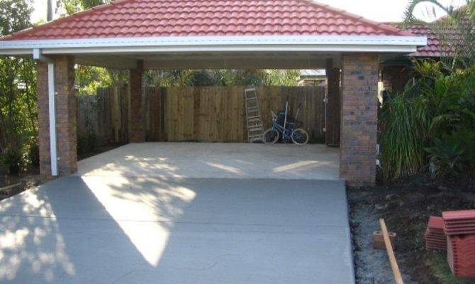 Awesome Brick Carports Design Pixelmari