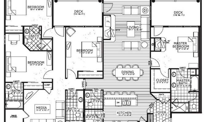 Awesome Condo House Plans Bedroom Floor