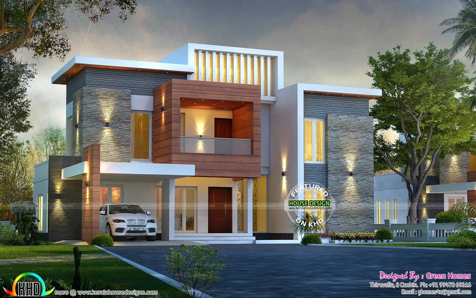 Awesome Contemporary Style Home Kerala - House Plans | #151085
