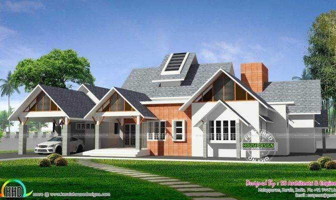 Awesome European Style Single Floor Home Kerala