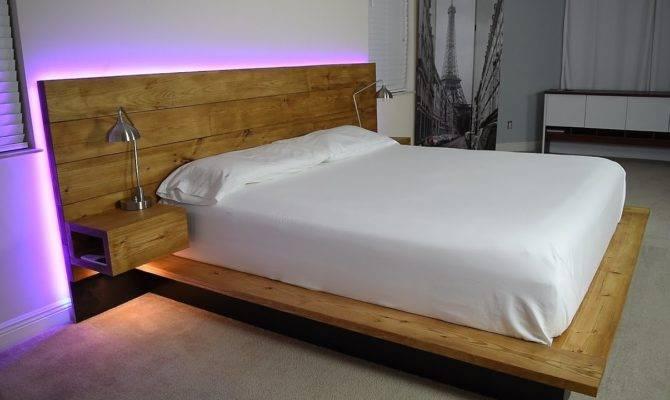 Awesome Floating Platform Bed Frame Bedroom Modern