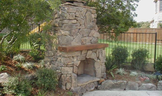 Awesome Outdoor Fireplace Stone Rustic